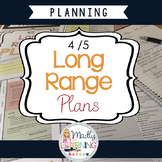 4/5 Long Range Plans *NOW WITH EDITABLE TEMPLATE*