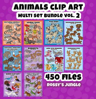 450 Files Animal Clip Art ULTRABUNDLE Vol.2