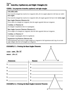 4.6 Isosceles, Equilateral, and Right Triangles (A)