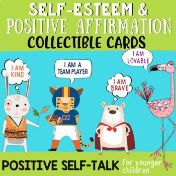 48 Positive Affirmation Self-Talk Cards for Children