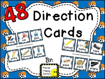 48 Directions Cards~ Sport Theme