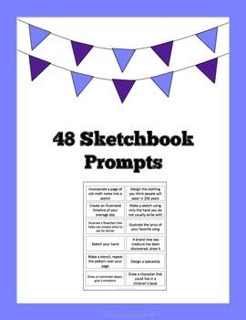 48 Sketchbook Prompts