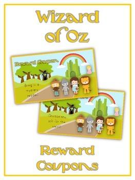 48 Wizard of Oz Reward Coupons - Colorful Behavior Incenti