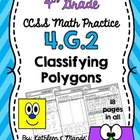 4.G.2 Practice Sheets: Classifying Polygons {Triangles & Quadrilaterals}