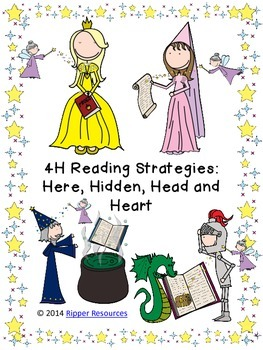 4H reading strategy - Fairy Tales version - posters, bookm