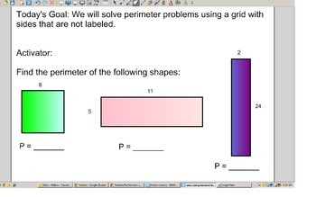 4.MD.3 Area and Perimeter SMART Notebook Lessons