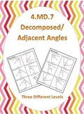4.MD.7 Common Core Math Standards (Decomposed Angles) (Adj