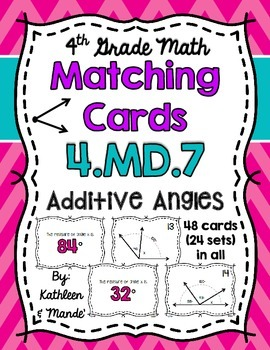 4.MD.7 Matching Cards: Additive Angles