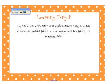 4.NBT.2 Expanded, Word, Standard Form (Whole Lesson!)