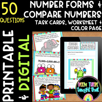 4.NBT.2 Expanded, Word and Standard Form, Compare Numbers