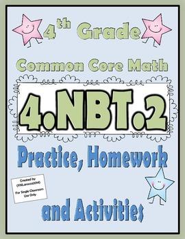 4.NBT.2 Practice, Homework, and Activities 4th Grade Commo