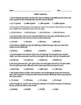 4.NBT.4 Assessment