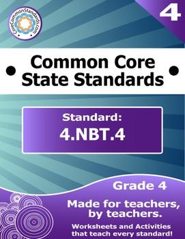 4.NBT.4 Fourth Grade Common Core Bundle - Worksheet, Activ