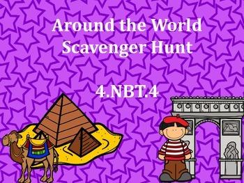 4.NBT.4 Scavenger Hunt Around the World