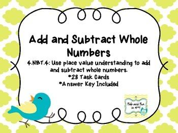 4.NBT.4 Task Cards