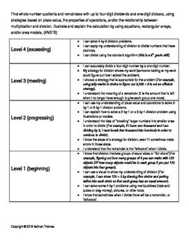4NBT6 (4.NBT.B.6) Learning Progression