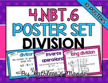 4.NBT.6: Division Posters ~ CCSS Aligned