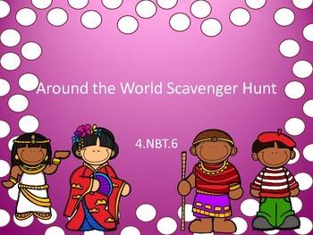 4.NBT.6 Scavenger Hunt Around the World