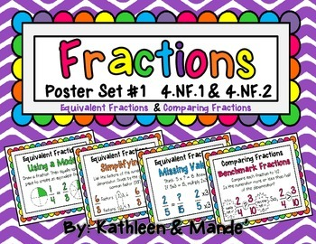 4.NF.1 & 4.NF.2 Poster Set (Equivalent Fractions & Compari