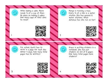 4.NF.4 Multiplying Fractions by Whole Numbers Task Cards S