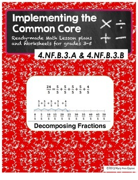 4.NF.B.3.A and 4.NF.B.3.B Decomposing Fractions
