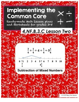 4.NF.B.3.B Subtraction of Mixed Numbers