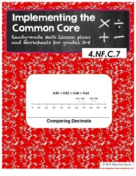 4.NF.C.7 Comparing Decimals