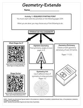 4TH Grade Geometry EXTENDS 4.G.2, 4.G.3