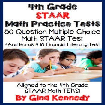4TH Grade STAAR Math Practice Tests, Plus Bonus Financial