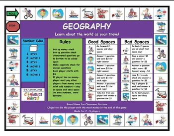 4th 5th Grade Geography Easy Set Up Station
