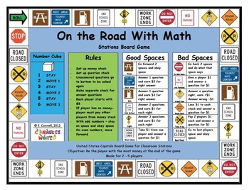 4th 5th Grade Math Easy Set Up Station