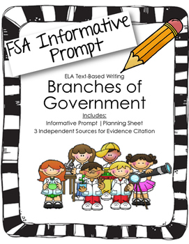 4th/5th Grade Text-Based Writing: Branches of Government (
