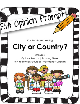 4th/5th Grade Text-Based Writing: Countryside or City Life