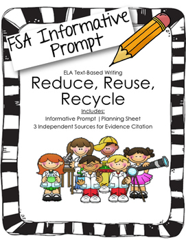4th/5th Grade Text-Based Writing: Reduce, Reuse, Recycle (