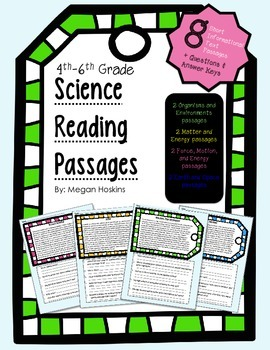 4th-6th Grade Science Reading Passages