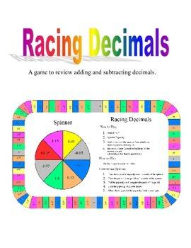 4th - 6th Racing Decimals - Adding and Subtracting Decimals Game