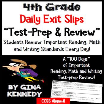 4th Grade Math, Writing & Reading Daily Test-Prep Review E