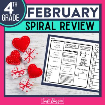 Fourth Grade Math Homework or 4th Grade Morning Work for FEBRUARY