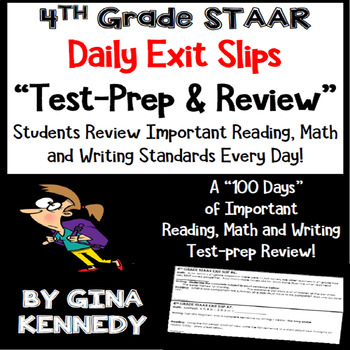 4th Grade STAAR Math, Writing & Reading Daily Test-Prep Re