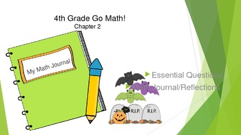 4th Gr Go Math! Ch 2 Essential Questions & Journal Prompts