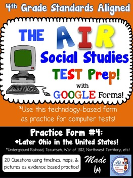 4th Grade AIR SS Test Prep #4 Using Google Forms (Later Oh