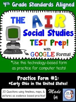4th Grade AIR Social Studies Test Prep #1 Using Google For