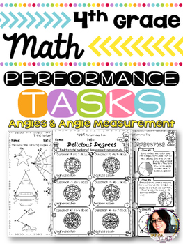 4th Grade Angles & Angle Measurement Performance Tasks 4.M