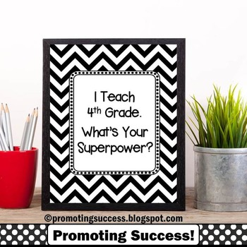 4th Grade Teacher Appreciation Week Superpower Quote Poste