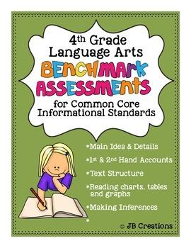 4th Grade Benchmark Assessments for Non Fiction Common Cor