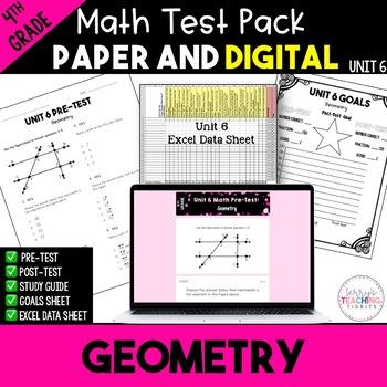Geometry Test Pack *4th Grade* {Unit 6}