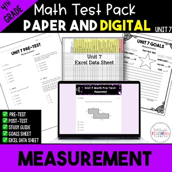 Measurement Test Pack *4th Grade* {Unit 7}