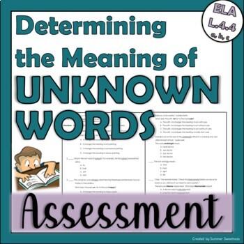 4th Grade CCSS ELA 4L. 4 a, b, and c Assessment