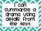 4th Grade CCSS ELA I Can Statements