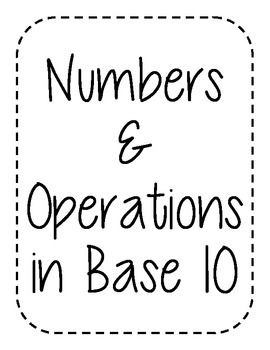 4th Grade CCSS Mathematics (Binder/Bulletin Board Labels)